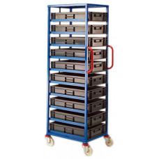 Mobile Tray Rack - 10 x 20 litre trays