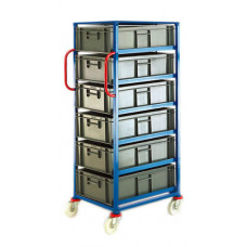 Mobile Tray Rack - 6 x 30 litre trays