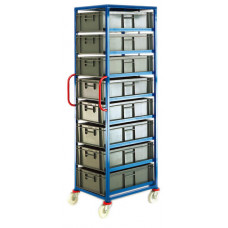 Mobile Tray Rack - 8 x 30 litre trays