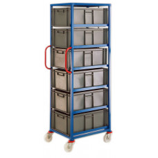 Mobile Tray Rack - 6 x 45 litre trays